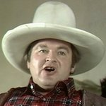 Benny as Hoss Cartwright from 'Bonanza' in 'Benny's International Bloopers'