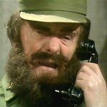 Jackie Wright as Fidel Castro in the 'Bionic Baby' sketch, (Jan. 26, 1977)