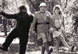 Click on the image of Benny, Lorraine and Jon Jon Keefe in a gorilla suit for a larger view